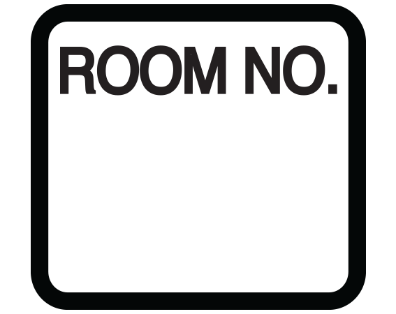 """White 1-3/8"""" x 1-1/2"""" Patient Chart Room Number Labels  - With Imprint: ROOM NO."""