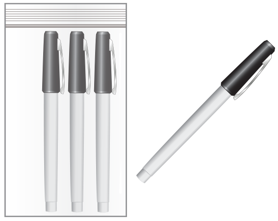 Smudgeproof Pen for Use on Cryogenic Labels