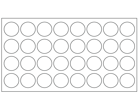 """White 7/16"""" DIAMETER Cryostick Labels for Cryogenic Use"""