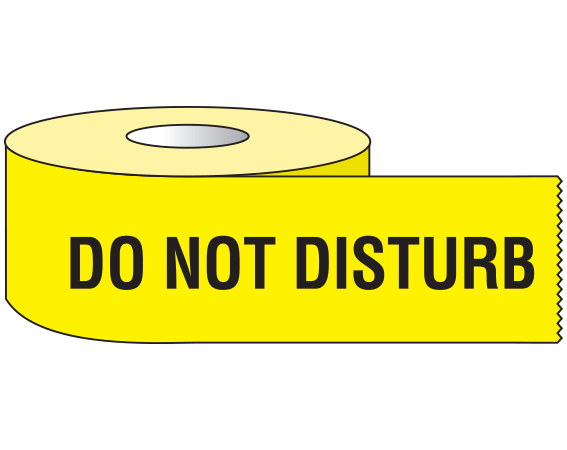 """Yellow 3/4"""" x 500"""" Animal Care Labels for Veterinary Medicine  - With Imprint: DO NOT DISTURB"""
