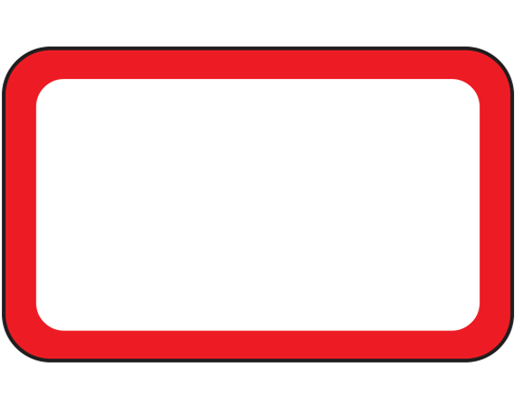 """White 1"""" x 1-5/8"""" Red Border Pre-Cut Labels for the Laboratory"""