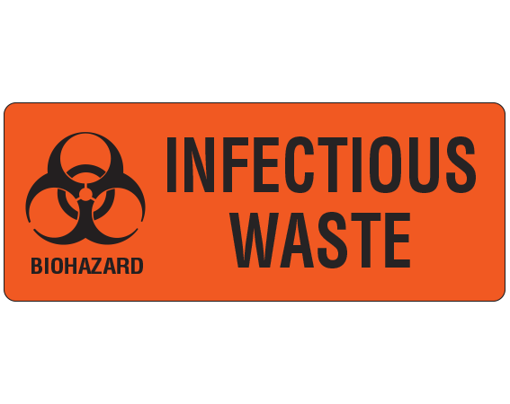 Upcr 9551 Biohazard Warning Labels For Infectious Waste Control