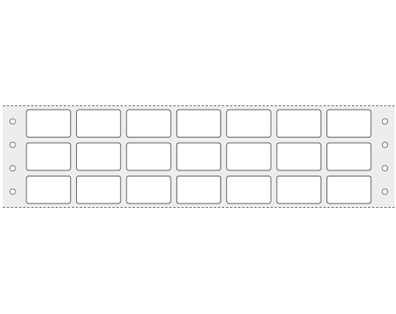 """White 5/8"""" x 1"""" Pinfed Printer Labels for HIV Testing"""