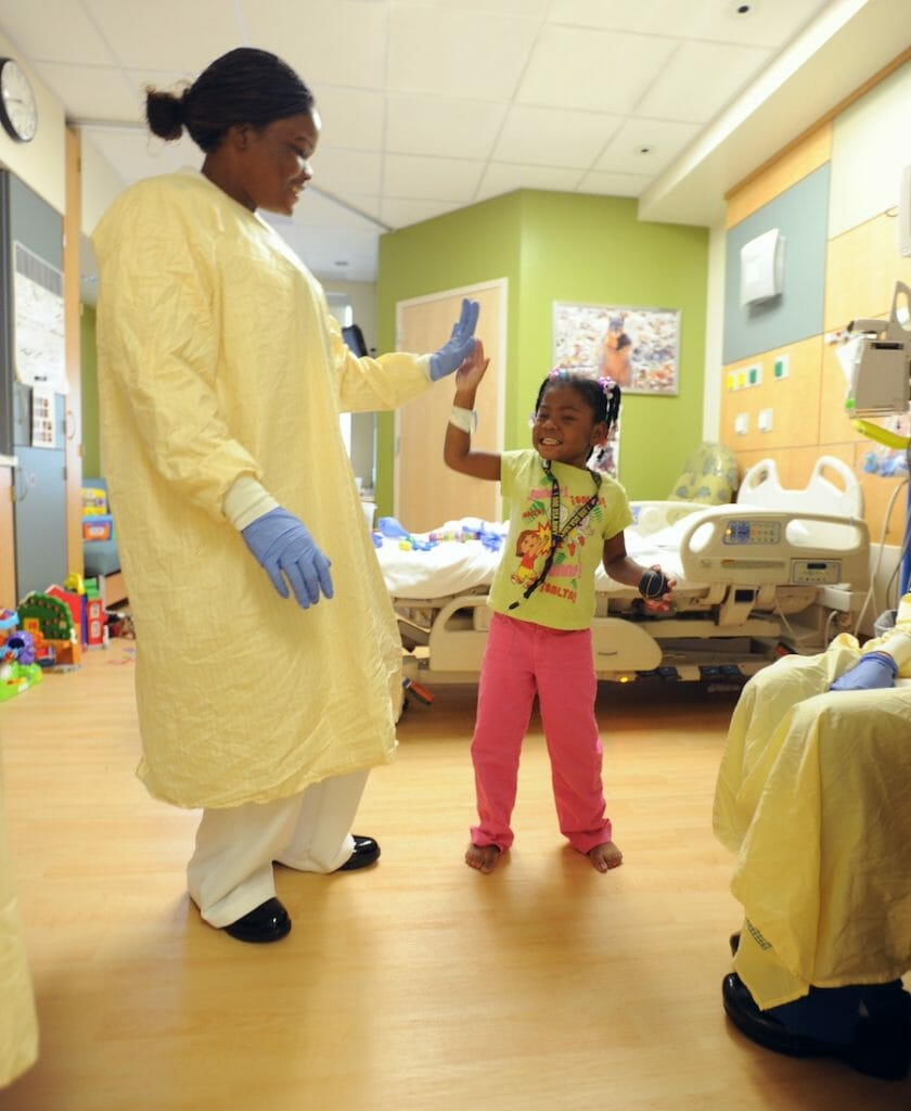 National Nurses Week: Nurse and Patient Giving Each Other A High Five