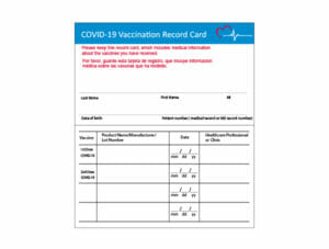 COVID-19 Vaccine Record Card